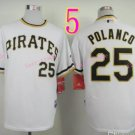 Sports Jerseys Pittsburgh Pirates 25 Polanco White Baseball Jerseys Style 2