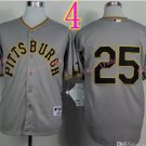 Sports Jerseys Pittsburgh Pirates 25 Polanco Grey Baseball Jerseys Style 2