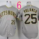 Sports Jerseys Pittsburgh Pirates 25 Polanco Grey Baseball Jerseys Style 1