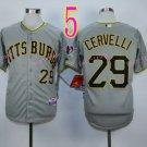 2015 Pittsburgh Pirates 29 Francisco Cervelli Jersey Gray Cool Base Shirt Stitched Baseball Jersey