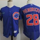 Chicago Cubs #28 Kyle Hendricks Blue Stitched Jersey Style 2