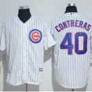 Chicago Cubs #40 Willson Contreras White Stitched Jersey