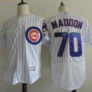 Chicago Cubs #70 Joe Maddon White Stitched Jersey