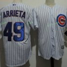 Chicago Cubs 49 Jake Arrieta WHite  Stitched Jersey