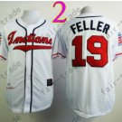 Bob Feller Jersey 1948 Year Hall of Fame Indians Jerseys White
