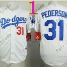 LA Dodgers 31# Joc Pederson Jersey White Cool Base