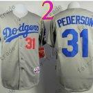 LA Dodgers 31# Joc Pederson Jersey Grey Cool Base