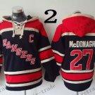 New York Rangers #27 ryan mcdonagh Hockey Hooded Stitched Old Time Hoodies Sweatshirt Jerseys