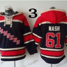 New York Rangers #61 rick nash Hockey Hooded Stitched Old Time Hoodies Sweatshirt Jerseys