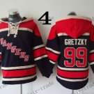 New York Rangers #99 Wayne Gretzky Hockey Hooded Stitched Old Time Hoodies Sweatshirt Jerseys