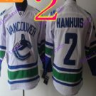 Stitched Vancouver Canucks #2 Dan Hamhuis White 3rd Hockey Jerseys Ice Jersey