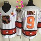 all star #9 gordie howe white vintage 2016 Hockey Ice Winter Jersey