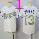 Youth Kansas City Royals #13 Salvador Perez 2016 Baseball Jersey Authentic Stitched