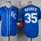 2015 World Series Kansas City Royals 35 Eric Hosmer Baseball Blue Jerseys Authentic Stitched