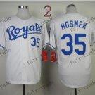 2015 World Series Kansas City Royals 35 Eric Hosmer Baseball White Jerseys Authentic Stitched