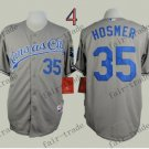 2015 World Series Kansas City Royals 35 Eric Hosmer Baseball Grey Jerseys Authentic Stitched