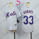 New York Mets Youth Jersey 33 Matt Harvey White Kids
