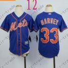 New York Mets Youth Jersey 33 Matt Harvey Blue Kids