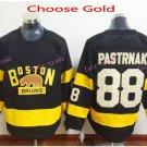 2016 Winter Classic Boston Bruins #88 David Pastrnak Home Gold Stitched Pastrnak Ice Hockey Jersey
