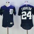 2017 Flexbase Stitched Detroit Tigers 24 Miguel Cabrera Blue Baseball Jerseys