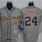 2017 Flexbase Stitched Detroit Tigers 24 Miguel Cabrera Grey Baseball Jerseys Style 1