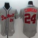 2017 Flexbase Stitched Detroit Tigers 24 Miguel Cabrera Grey Baseball Jerseys Style 2