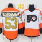 Philadelphia Flyers #53 Shayne Gostisbehere 50th Anniversary 2017 Hockey Jerseys Ice Winter Jersey