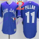 2016 Majestic Official Cool Base Stitched 40th Season Toronto Blue Jays #11 Kevin Pillar Blue