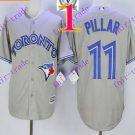 2016 Majestic Official Cool Base Stitched 40th Season Toronto Blue Jays #11 Kevin Pillar Grey