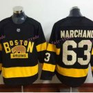 Boston Bruins 2016 Winter Classic Jersey #63 Brad Marchand Black All Stitched New Style Jerseys