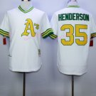 Rickey Henderson Jersey 35#, 1979 Cooperstown Oakland Athletics Jerseys White