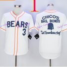 Bad News BEARS Movie Button Down Jersey #3 Kelly Leak 2015 Baseball Jerseys Authentic Stitched