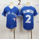 Youth Toronto Blue Jays #2 Troy Tulowitzki  Baseball Jersey Blue Rugby Jerseys