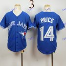 Youth Toronto Blue Jays #14 david price Baseball Jersey Blue Rugby Jerseys
