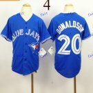 Youth Toronto Blue Jays 20 Josh Donaldson Baseball Jersey Blue Rugby Jerseys