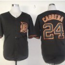 detroit tigers #24 miguel cabrera 2015 Baseball Jersey Black Rugby Jerseys Authentic Stitched