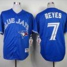 toronto blue jays #7 jose reyes 2016 Baseball Jersey Blue Rugby Jerseys Authentic Stitched