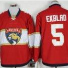 Florida Panthers #5 Ekblad Red Hockey Jersey Stitched