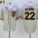 Flexbase 22 Will Clark Jersey Cool Base Vintage Retro San Francisco SF Giants 1989 Grey Style 1