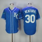 kansas city royals #30 yordano ventura Blue 2017 Baseball Jerseys Embroidered On