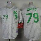 chicago white sox #79 jose abreu 2015 Baseball White Jerseys Authentic Stitched Style 1