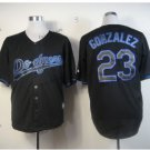 los angeles dodgers #23 adrian gonzalez 2015 Baseball Black Jerseys Authentic Stitched