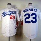los angeles dodgers #23 adrian gonzalez 2015 Baseball White Jerseys Authentic Stitched