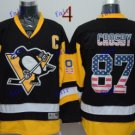 Pittsburgh Penguins #87 Sidney Crosby USA Throwback Vintage ICE Hockey Jerseys Heritage Stitched