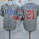 Chicago Cubs #21 sammy sosa Grey 2015 Baseball  Jerseys Authentic Stitched