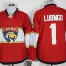 Cord NHL Florida Panthers #1 Luongo Red Hockey Jersey Stitched