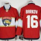 Cord NHL Florida Panthers #16 Barkov Red Hockey Jersey Stitched