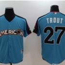 2017 All Star American League 27 Mike Trout blue Run Derby Player Jerseys