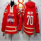 Stitched WCapitals Hoody #70 Holtby  men Red Balc Jerseys Ice Jersey Hoodie