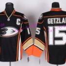 Anaheim Ducks Hockey Jerseys #15 Ryan Getzlaf Jersey Black Stitched Ice Hockey Jerseys C Patch